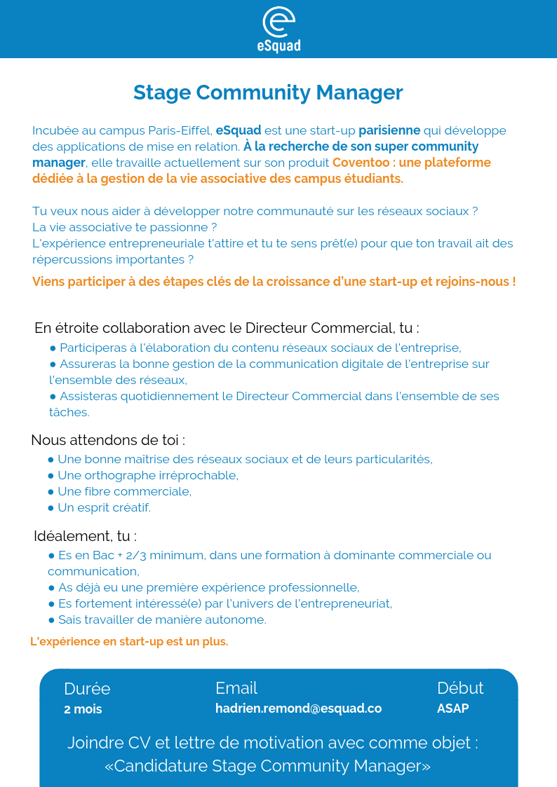 lettre de motivation stage communication digitale