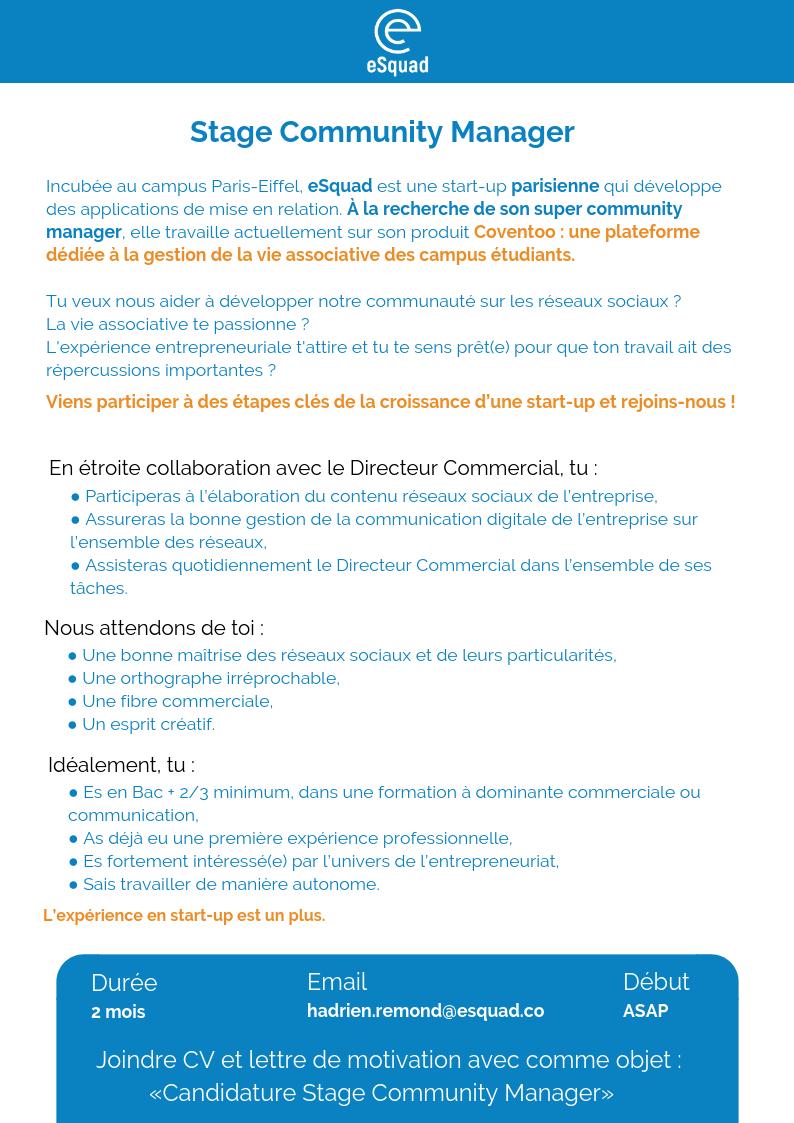 lettre de motivation stage communication digitale